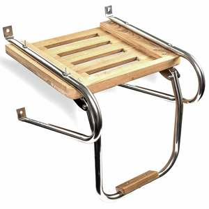 Teak Swim Platform with Step, Inboard/Outboard