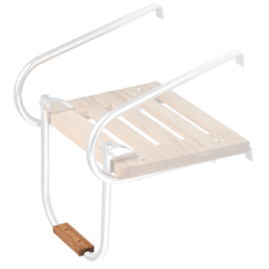 Teak Swim Platform Boarding Ladder Step, X-Small