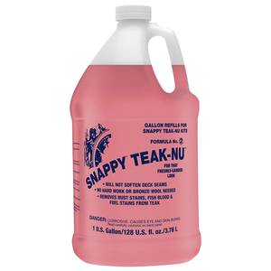Snappy Teak-Nu Two-Step Teak Cleaning, Part Two, Neutralizer, Gallon