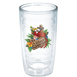 16 oz. It's 5 O'Clock Somewhere Parrot Tumbler