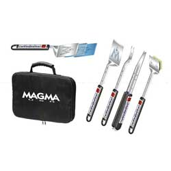 5-Piece Telescoping Stainless-Steel Grilling Tool Set