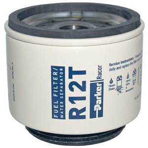 racor fuel filters p series racor r12t spin on fuel filter for series 120  10 micron west marine  racor r12t spin on fuel filter for