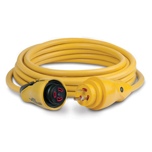 25' EEL ShorePower Cordset, 30A 125V, Yellow