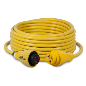 50' EEL ShorePower Cordset, 30A 125V, Yellow