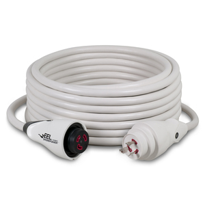 50' EEL ShorePower Cordset, 30A 125V, White