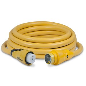 25' EEL 4 Conductor ShorePower Cordset, 50A 125/250V, Yellow