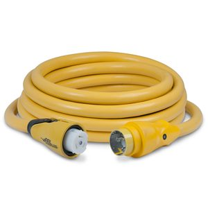 25' EEL 3 Conductor ShorePower Cordset, 50A 125V, Yellow