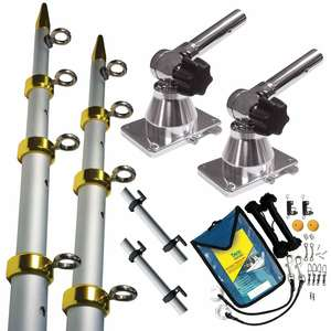 Grand Slam 170 Silver/Gold 15' Tele-Outriggers w/Std. Rigging Kit