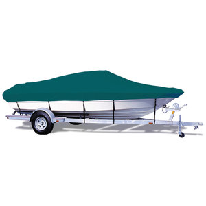 "V-Hull Runabout Cover, I/O, Teal, Hot Shot, 16'5""-17'4"", 80"" Beam"