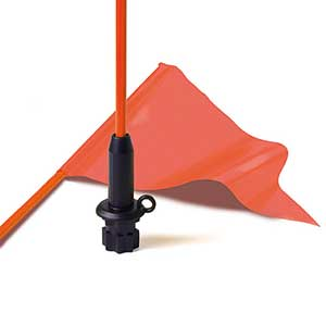 Kayak Flag Kit with Pennant, Black Base