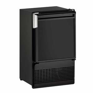 "14"" Black Marine Crescent Ice Maker with Flange, 115V"