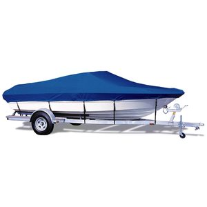 "V-Hull Runabout Cover, OB, Pacific Blue, Hot Shot, 13'5""-14'4"", 73"" Beam"