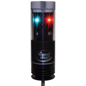Pedestal Mount Tri-Color LED Navigation Light with Anchor Light, 3-Wire