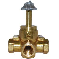 "Multiple Tank Draw Valve, 3-Way, 1/4"", NPT Female, Click Stop"