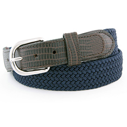 Men's Lizard Stretch Macrame Belt