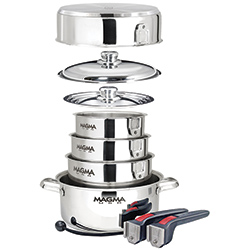10-Piece Nesting Cookware, Stainless Steel Induction