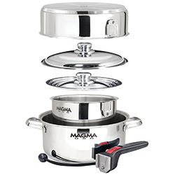 7-Piece Nesting Cookware, Stainless Steel Induction