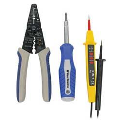 Stripper/Crimper, Electrical Tester & 6-in-1 Driver Set