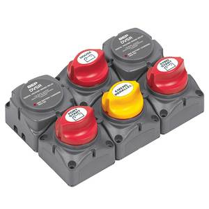 Battery Distribution Cluster for Twin Outboard Engine,Three Battery Banks