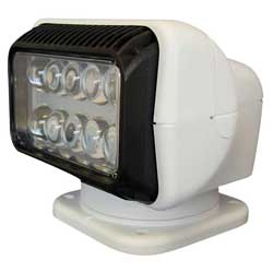 LED Searchlight with Dash Mount Remote, White