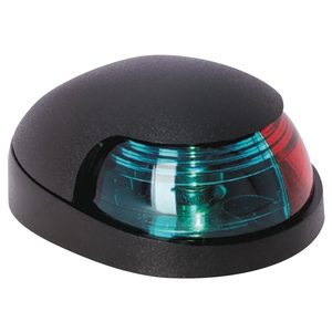 Quasar Deck Mount Bi-Color Navigation Light, Black Housing