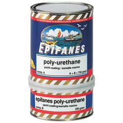 Polyurethane Topside Paint, Clear Gloss, 1/2 Pint