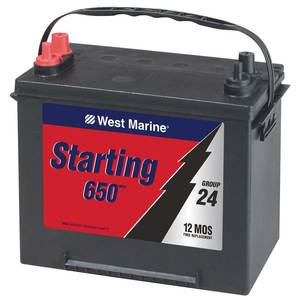 Marine Starting Battery, 650MCA, Group 24
