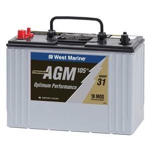 Group 31 Dual-Purpose AGM Battery, 105 Amp Hours