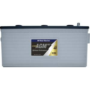 Group 4D Dual-Purpose AGM Battery, 198 Amp Hours