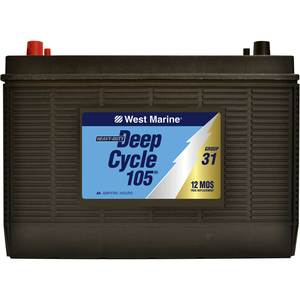 Deep Cycle Flooded Marine Battery, 105 Amp Hours, Group 31