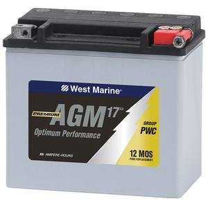 Group PWC AGM Battery for Personal Watercraft,  17.5 Amp Hours
