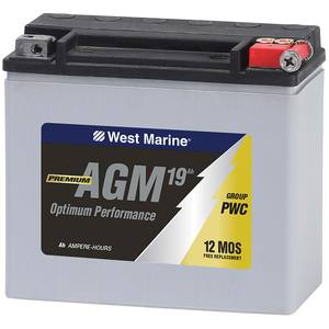 Group PWC AGM Battery for Personal Watercraft, 19 Amp Hours