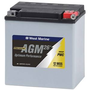 Group PWC AGM Battery for Personal Watercraft,  26 Amp Hours