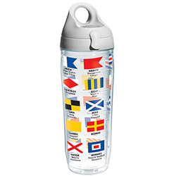 24 oz. Nautical Flags Water Bottle Tumbler