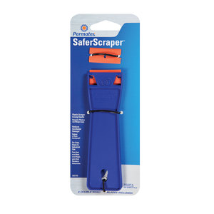 Plastic Scraper with Two Refillable Blades