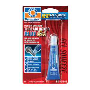 Medium-Strength Threadlocker Blue Gel, .20 fl. oz.