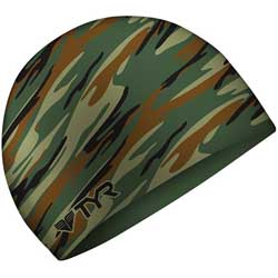 Swim Cap, Green Camo