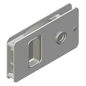 MF Flush Sliding Door Latch, Powder Coat/White