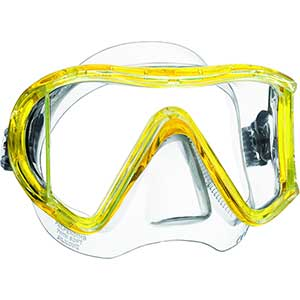 i3 Scuba Mask, Yellow/Clear