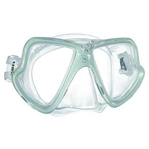 X-Vision Midsize Liquidskin Scuba Mask, Green/Clear
