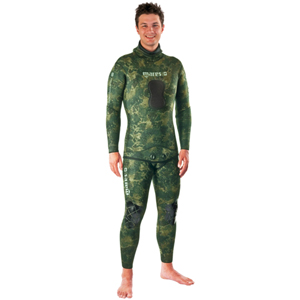 Instinct Two-Piece Wetsuit, Green Camouflage, 5.5mm