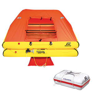 Standard Coastal Cruiser Life Rafts with Canister