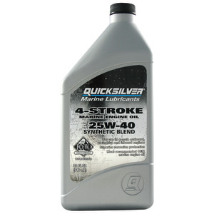 25W-40 Synthetic Blend 4-Stroke Outboard Oil, Quart