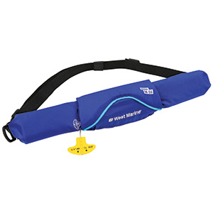 Ultra-Slim Manual Inflatable Life Jacket Belt Pack, Blue