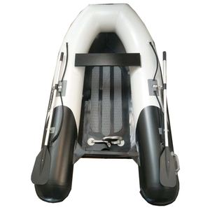 RIB-275 Aluminum Hull Inflatable Boat, Black