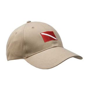 Embroidered Dive Flag Hat, Khaki