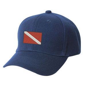 Embroidered Dive Flag Hat, Navy