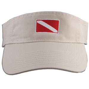 Embroidered Dive Flag Visor, Khaki
