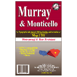 Lake Murray & Monticello, South Carolina, Waterproof Lake Map
