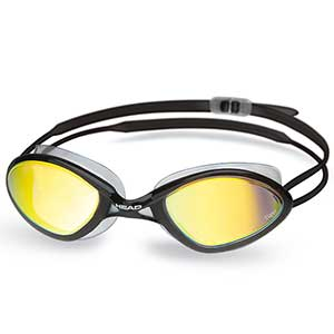 Tiger Race LSR Mirrored Goggles, Black/Smoke